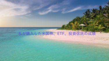 私が購入した米国株、ETF、投資信託の損益状況
