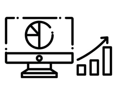 テレビと株式チャート